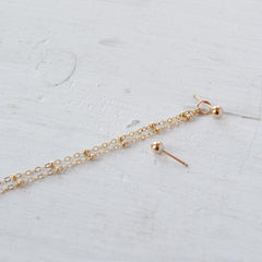 Chain Shoulder Duster Ear Jacket, Gold or Silver