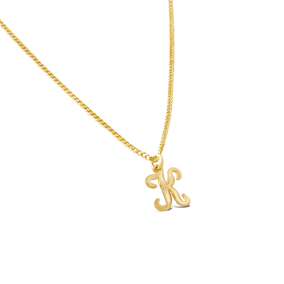 70's Initial Necklace, Gold or Silver