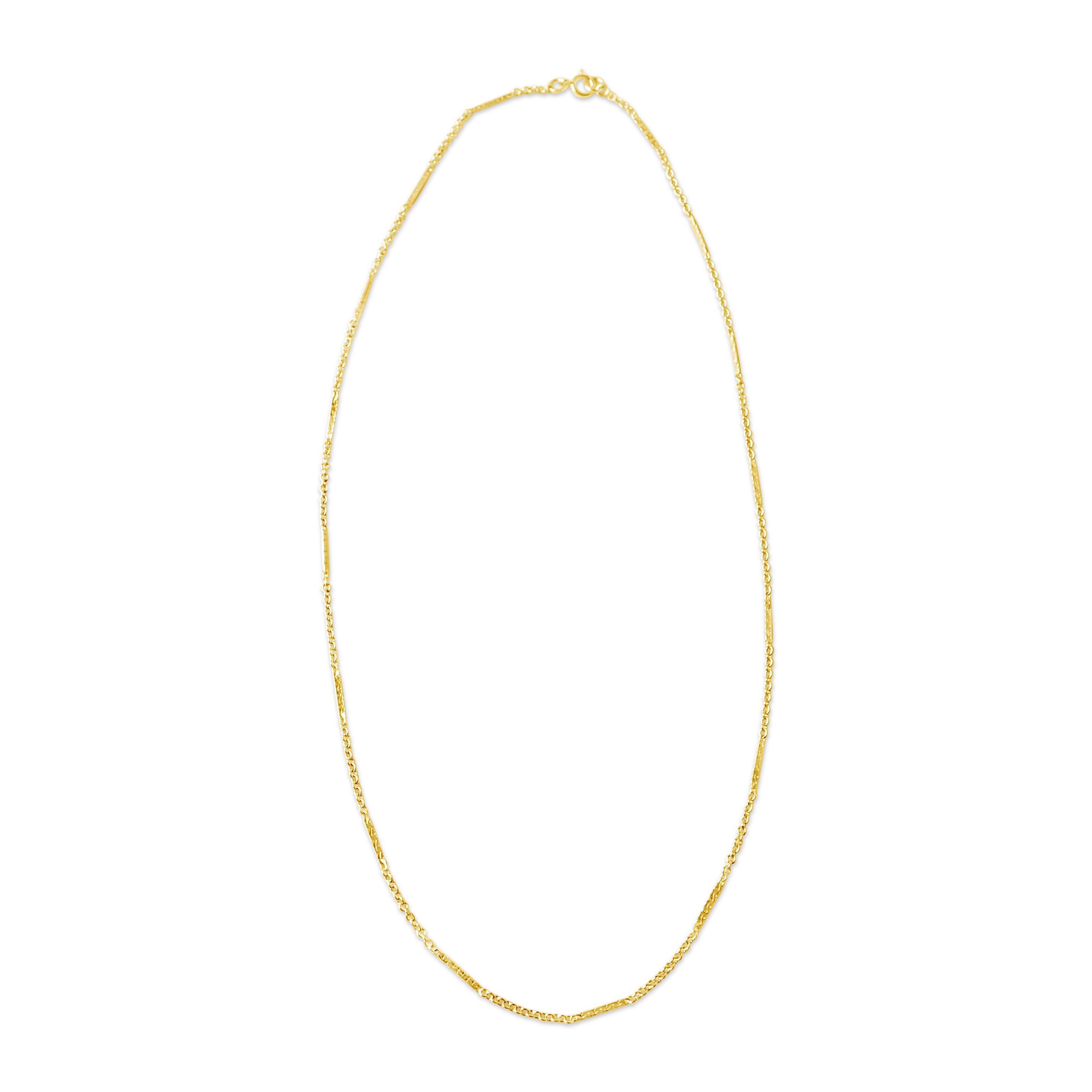 Snake Bar Chain Necklace, Gold or Silver