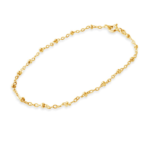 Ball and Chain Bracelet, Gold or Silver