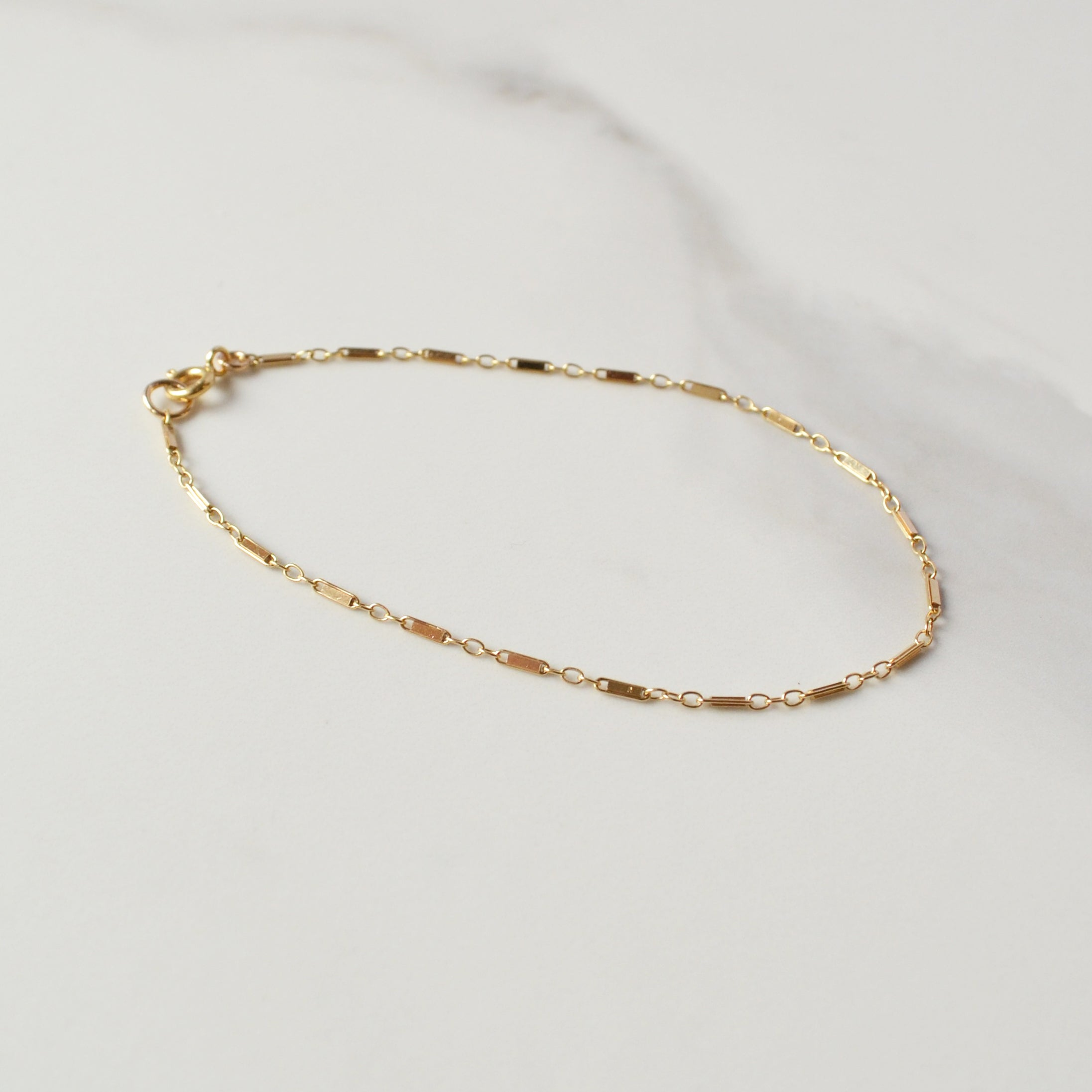 Bar Chain Bracelet, Gold or Silver