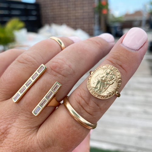 St. Christopher Coin Ring