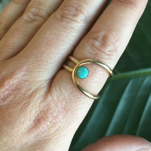 Lasso Ring in Turquoise, Gold or Silver