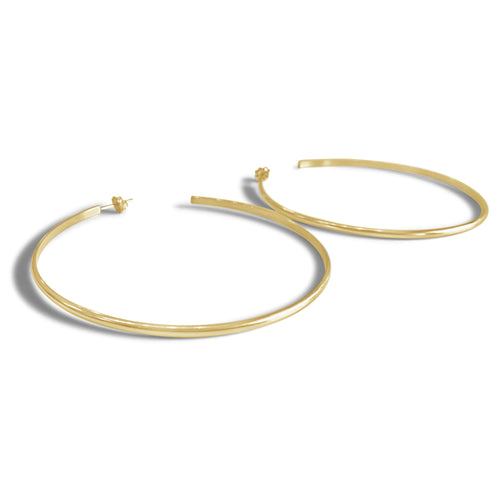 Oversized Hoop Earrings, Gold or Silver