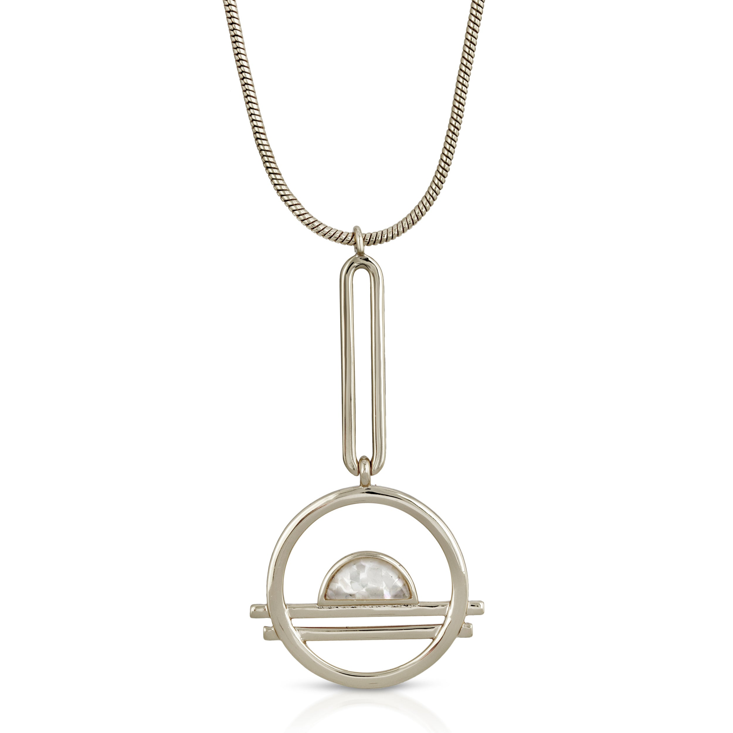 Ocean Drive Pendulum Necklace - Mother of Pearl