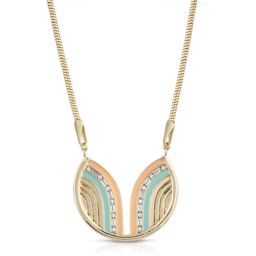 South Beach Necklace - Coral/Mint