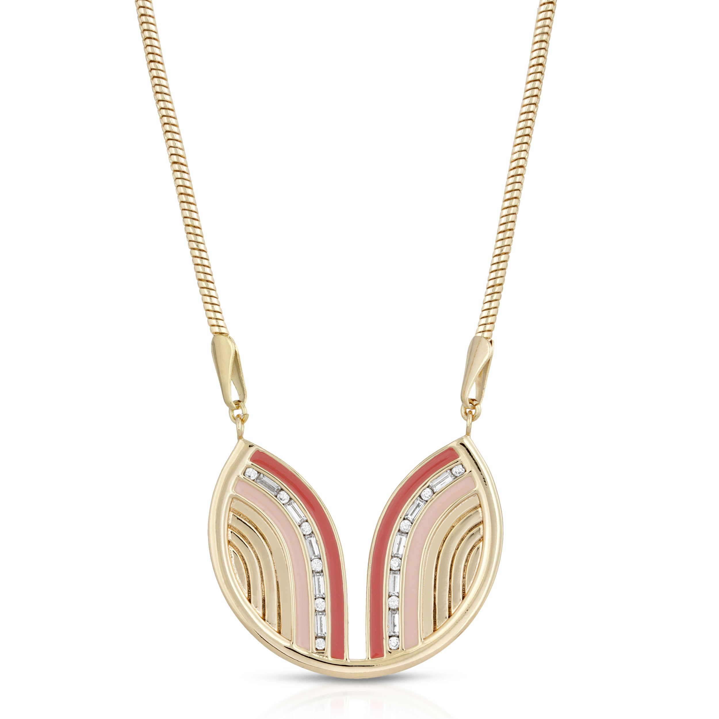 South Beach Necklace - Coral/Cinnamon