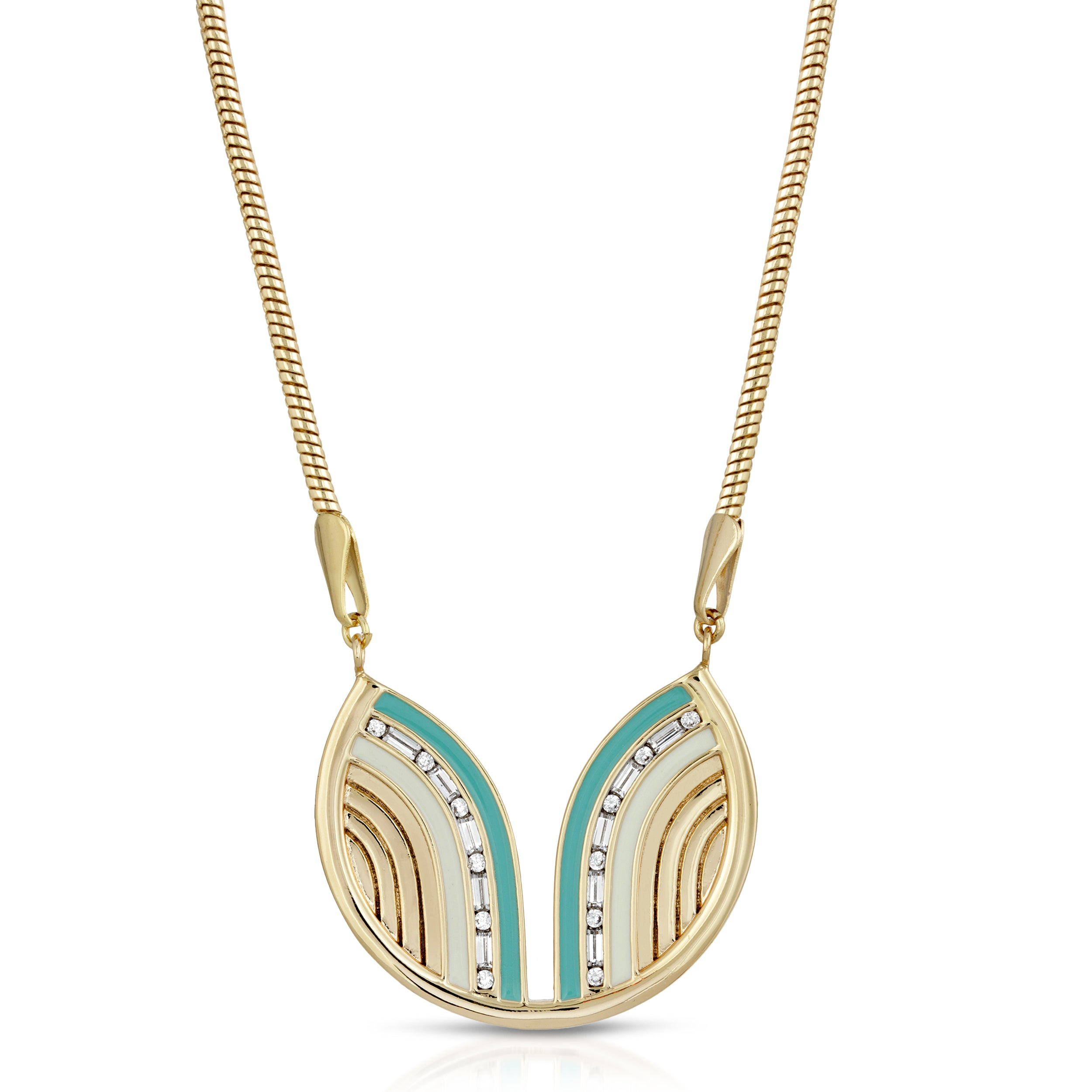 South Beach Necklace - Turquoise/White