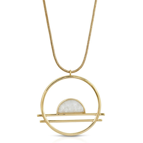 Ocean Drive Statement Pendant - Mother of Pearl