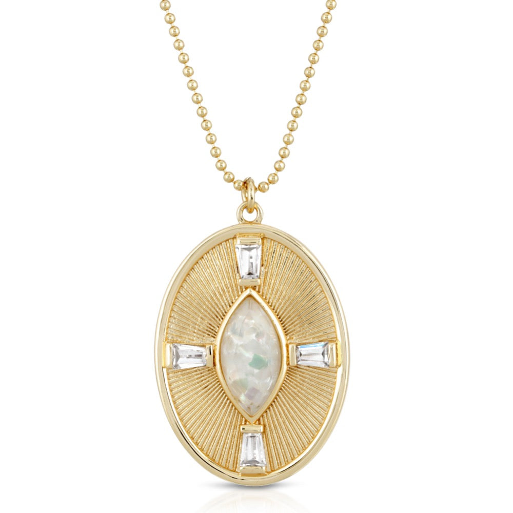 Sunray Necklace- Mother of Pearl