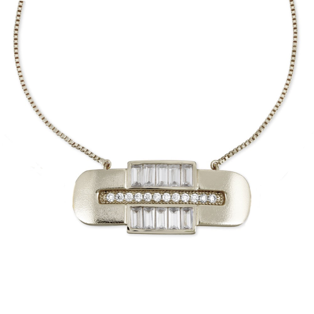 Century Necklace - Clear CZ