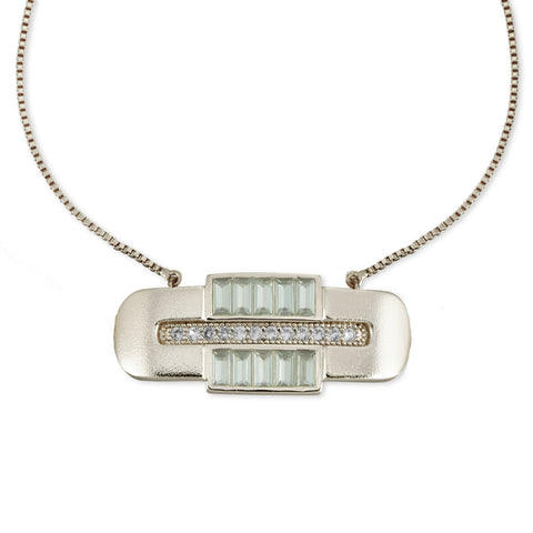 Ocean Drive Bolo- Mother of Pearl/Rhodium