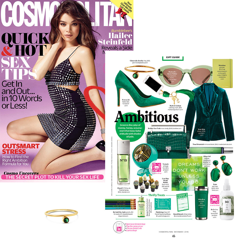Offset Gemstone Stacking Ring featured in Cosmo magazine