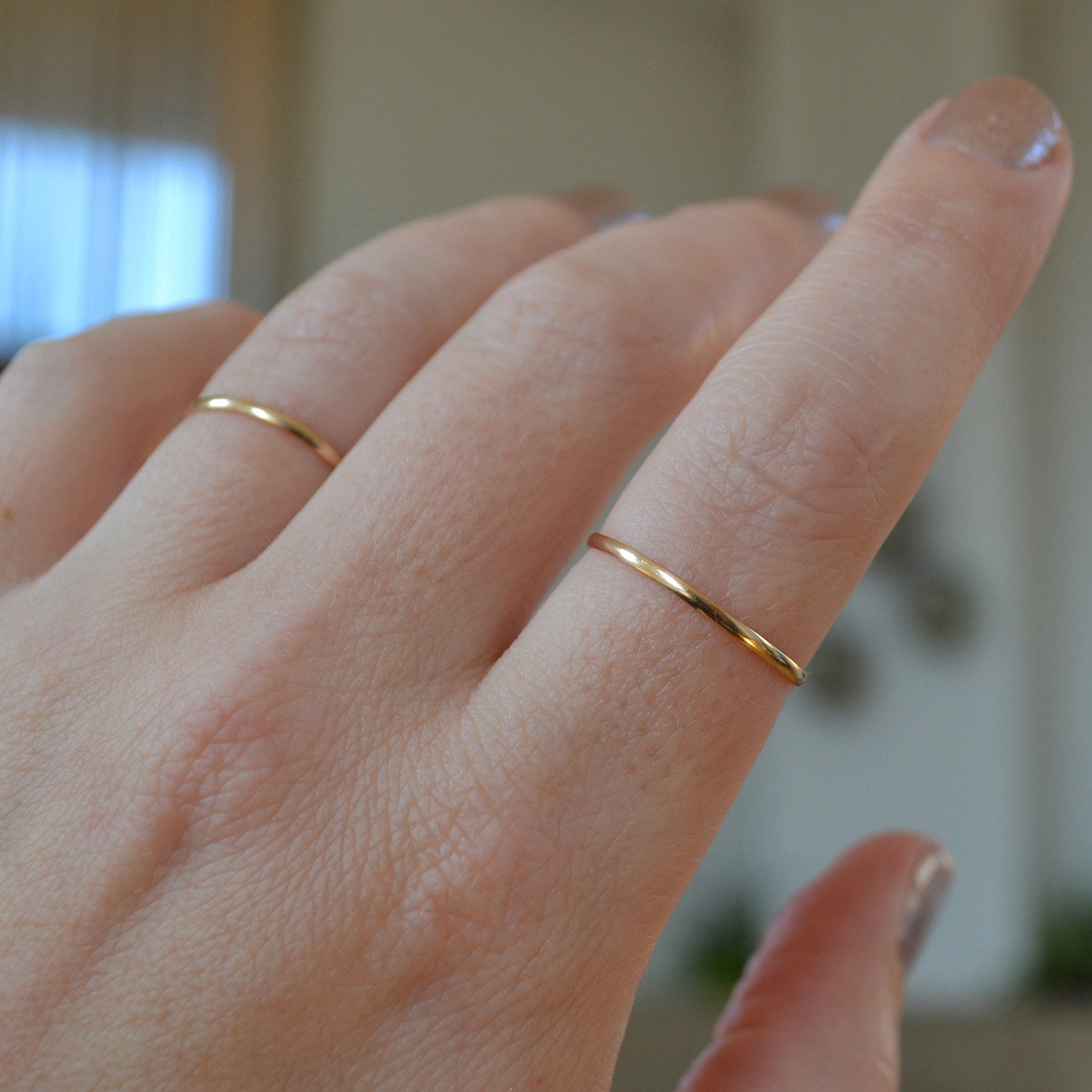 pin ring set rings party opal thin gold dainty