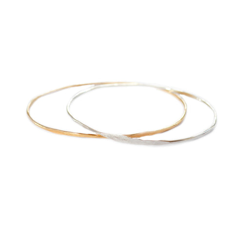 Easy Rider Bangle Bracelet, Gold or Silver