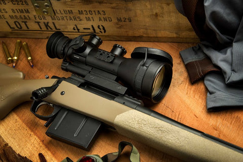 ares night vision scope on a bolt action rifle