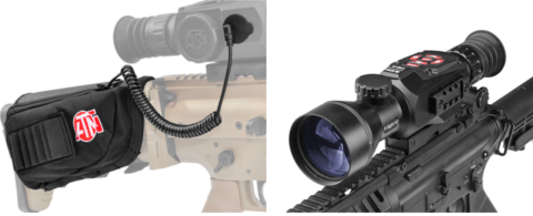 ATN X-SIGHT II HD 5-20x with External Stock Mounted Battery Pack.