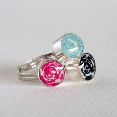 coiled paper bead rings