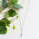 Dainty hammered bar choker necklace in sterling silver or 14k gold filled by Blossom and Shine