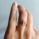 Dainty Bar Rings