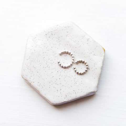 Beaded cartilage ear cuff in sterling silver or 14k gold filled and small and large sizes by Blossom and Shine