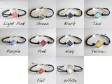 Square Paper Bead Bracelet - 10 colors options