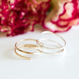 Hammered coiled wrap ring in sterling silver or 14k gold filled by Blossom and Shine