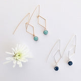 Diamond Wire Paper Bead Earrings - 10 color options