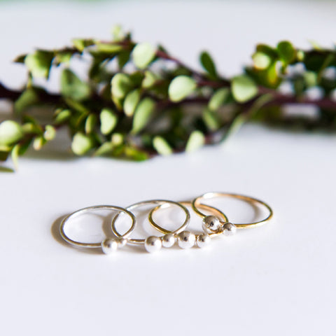 Dainty Dot Rings