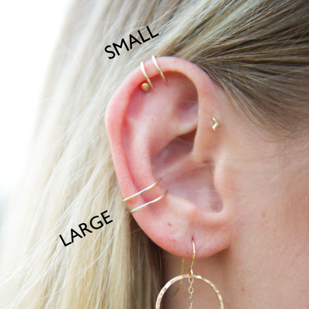 Double wire ear cuff in sterling silver or 14k gold filled by Blossom and Shine
