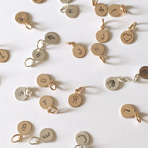 Add a charm to any necklace - Choose from 26 letters and 13 symbols