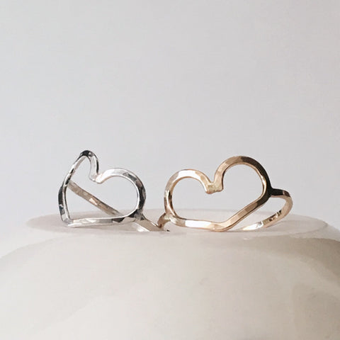 Open Heart Rings