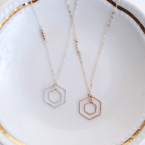 st petersburg fl hexagon necklace