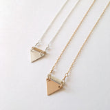 Mixed Metal Little Triangle Necklace