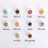 Long Paper Bead Earrings - 10 color options