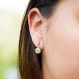 Paper Bead Stud Earrings - 10 color options
