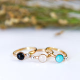 Stone Dot Ring in 14k Gold Filled