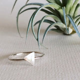 dainty triangle rings sterling silver