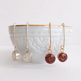 Wire Drop Earrings - 10 color options