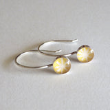 yellow little circle earrings