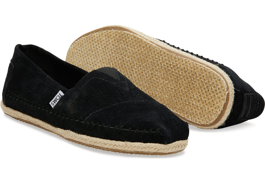 04f9f147091 While men s shoes TOMS Tom s Shoes shoes slipon slip-on suede suede black  black sandal ...