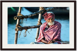 The old man and the Ganges-Piet Flour- NiQOO-frame
