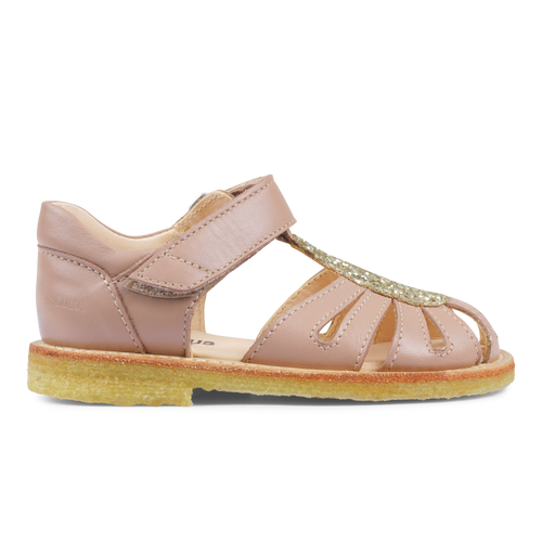 Angulus - Sandal Med Velcro, 0541 - Make-Up / Champagne