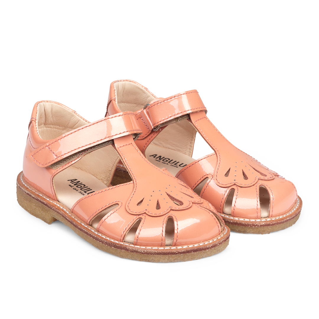 Image of   Angulus - Sandal med justerbar velcrolukning, 0556 - Peach