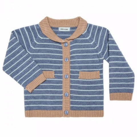 Image of   Mini A Ture - Cardigan, Ulrick - Blue Moonlight Jade