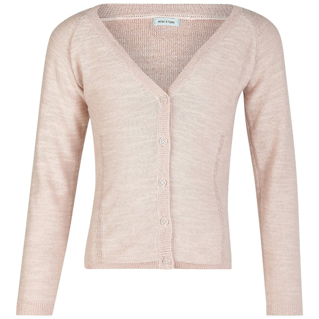 Image of   Mini A Ture - Cardigan, Beline - Pearl Blush