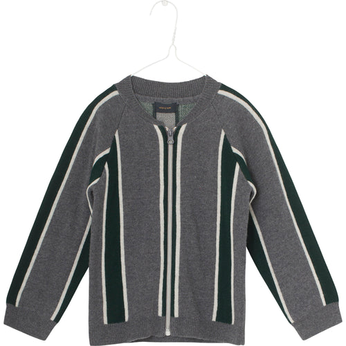 Mini Q Ture - Maximus Cardigan, K - Grey Melange