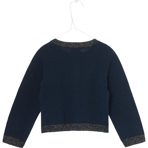 Mini Q Ture - Addy Cardigan, B - Sky Captain Blue