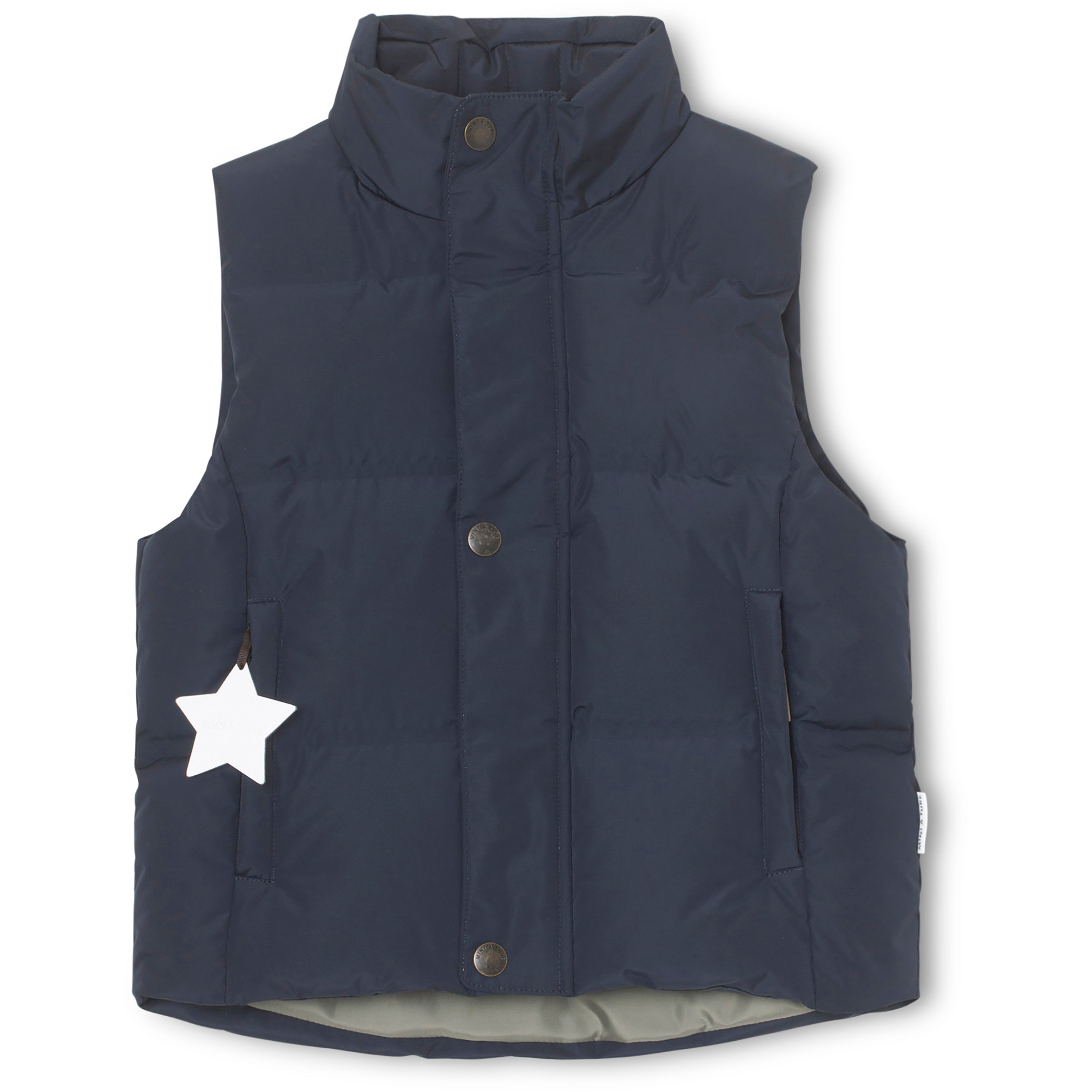 Mini A Ture - Vest, Wyatt Down Quilt - Sky Captain Blue