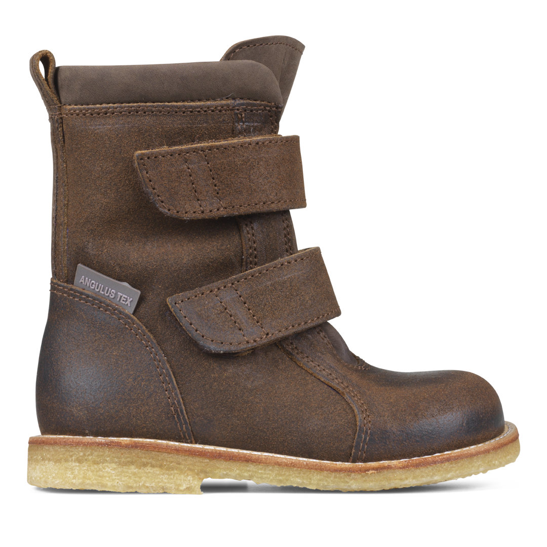 Angulus - TEX-støvle m. velcro, 1202 - Dark Brown